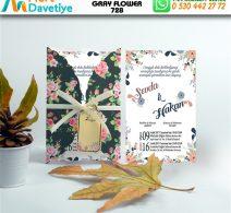 1,000 ADET GRAY FLOWER MODEL-728