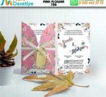 1,000 ADET PINK FLOWER MODEL-728