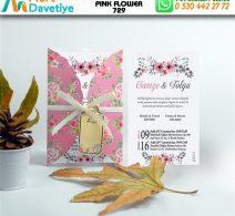1,000 ADET PINK FLOWER MODEL-729