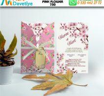1,000 ADET PINK FLOWER MODEL-730