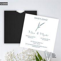 Kare Siyah Zarflı Model – K1000