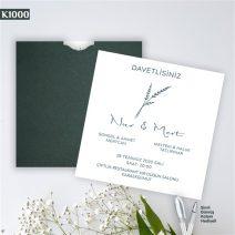 Kare Yeşil Zarflı Model – K1000