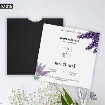 Kare Siyah Zarflı Model – K1016