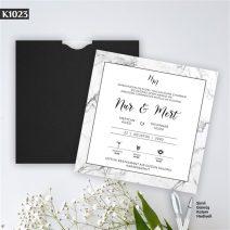 Kare Siyah Zarflı Model – K1023