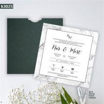 Kare Yeşil Zarflı Model – K1023