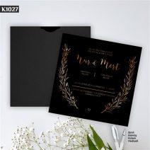 Kare Siyah Zarflı Model – K1027