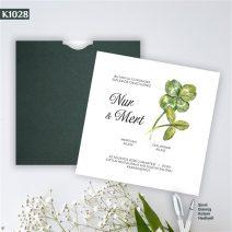 Kare Yeşil Zarflı Model – K1028