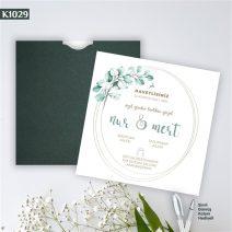 Kare Yeşil Zarflı Model – K1029