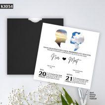 Kare Siyah Zarflı Model – K1034
