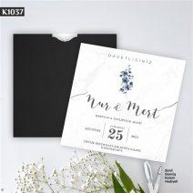 Kare Siyah Zarflı Model – K1037