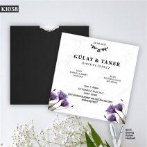 Kare Siyah Zarflı Model – K1038