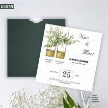 Kare Yeşil Zarflı Model – K1039